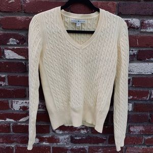 Tommy Hilfiger Knit Sweater Yellow L
